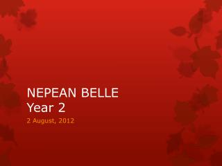 NEPEAN BELLE Year 2