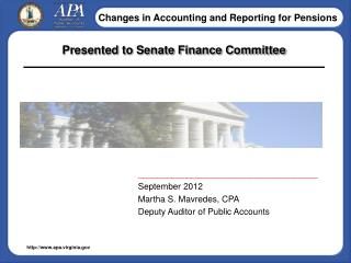 Presented to Senate Finance Committee