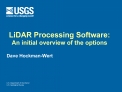 LiDAR Processing Software: An initial overview of the options