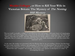 Making Meaning of a  Murder Mystery