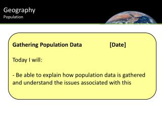 Geography Population