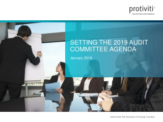 Setting the 2019 Audit Committee Agenda