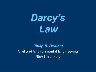 Darcy s  Law