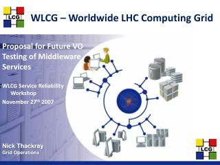 WLCG – Worldwide LHC Computing Grid