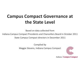 Campus Compact Governance at the State Level