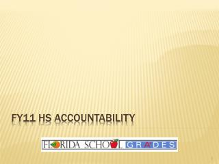 FY11 Hs accountability