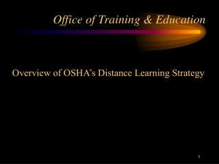 Office of Training & Education