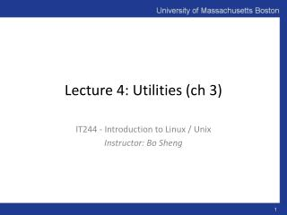 Lecture 4: Utilities ( ch  3)