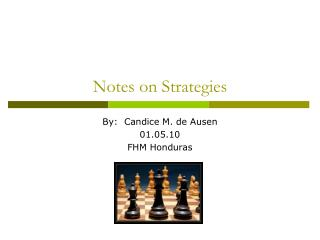 Notes on Strategies