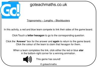 Trigonometry – Lengths – Blockbusters
