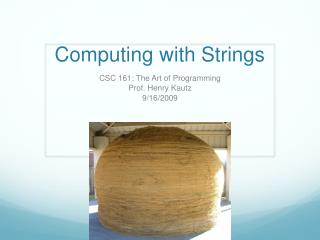 Computing with Strings