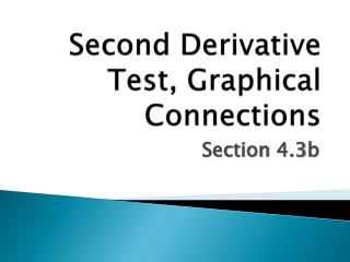 Second Derivative Test, Graphical Connections