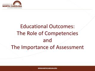 Educational Outcomes: The Role of Competencies and The Importance of Assessment