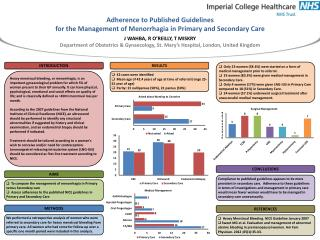 Adherence to Published Guidelines