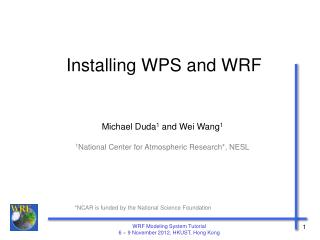 Installing WPS and WRF