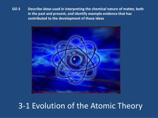 3-1 Evolution of the Atomic Theory