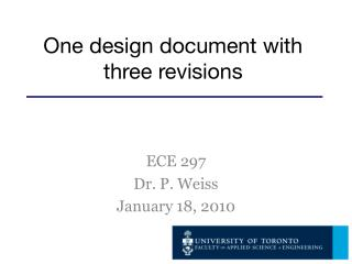 One design document with three revisions