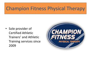 Champion Fitness Physical Therapy