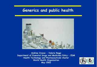 Generics and public health