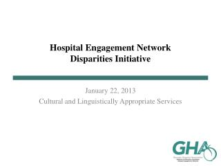 Hospital Engagement Network Disparities Initiative