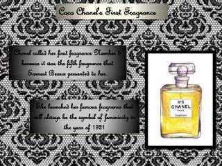 Coco Chanel's First Fragrance