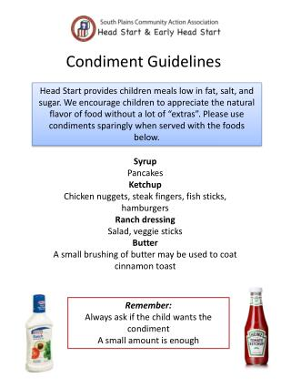 Condiment Guidelines