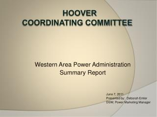 Hoover  Coordinating committee