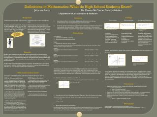 Definitions in Mathematics: What do High School Students Know?