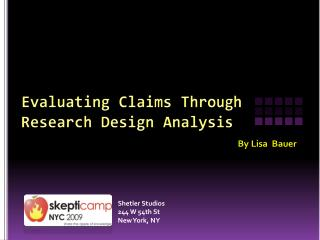 Evaluating Claims Through  Research Design Analysis
