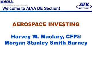 Welcome to AIAA DE Section!