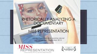 Rhetorically analyzing a documentary miss representation