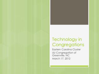 Technology in Congregations