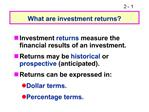 What are investment returns