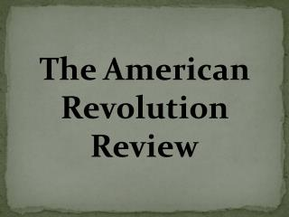 The American Revolution Review
