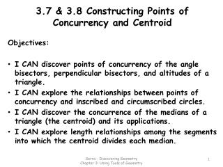 3.7 & 3.8 Constructing Points of Concurrency and Centroid