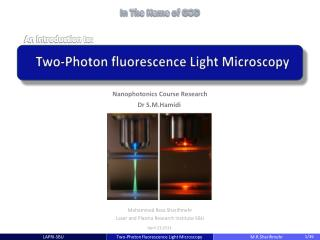 Two-Photon fluorescence Light Microscopy
