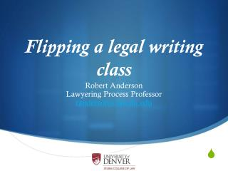 Flipping a legal writing class