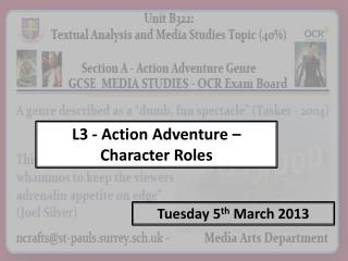 L3 - Action Adventure –  Character Roles