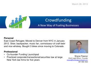 Crowdfunding A New Way of Fueling Businesses