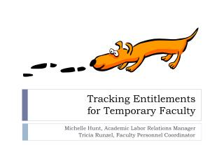 Tracking Entitlements for Temporary Faculty