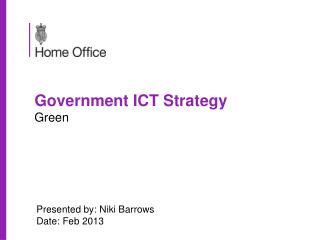 Government ICT Strategy Green