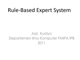 Rule-Based Expert System