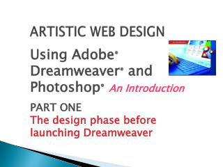 ARTISTIC WEB DESIGN