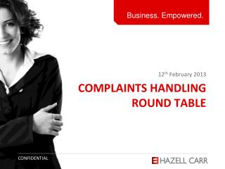 Complaints Handling  Round Table