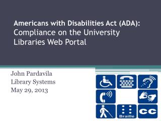 Americans with Disabilities Act (ADA):  Compliance on the University Libraries Web Portal