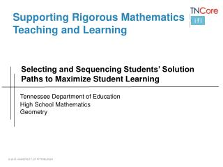 Selecting and Sequencing Students' Solution Paths to Maximize Student Learning