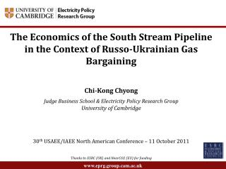 The Economics of the South Stream Pipeline in the Context of Russo-Ukrainian Gas Bargaining