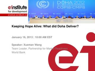 Keeping Hope Alive: What did Doh a Deliver?