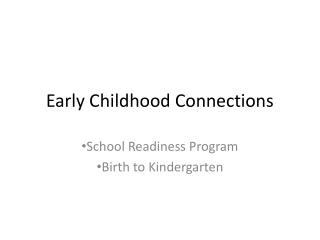 Early Childhood Connections