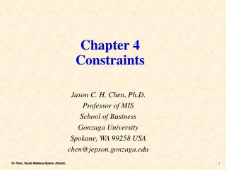 Chapter 4 Constraints